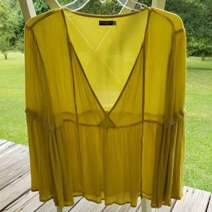 Earthbound Yellow Top NWOT